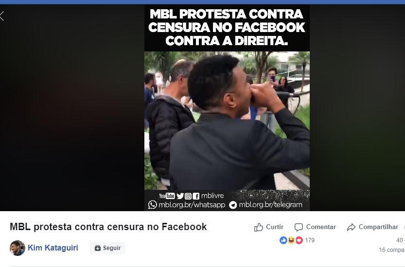 Capturar 62 - MBL protesta em frente ao Facebook contra desativação de páginas e perfis - VEJA VÍDEO!