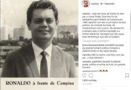 Cássio Cunha Lima publica foto de Ronaldo para lembrar 6 anos da morte do poeta