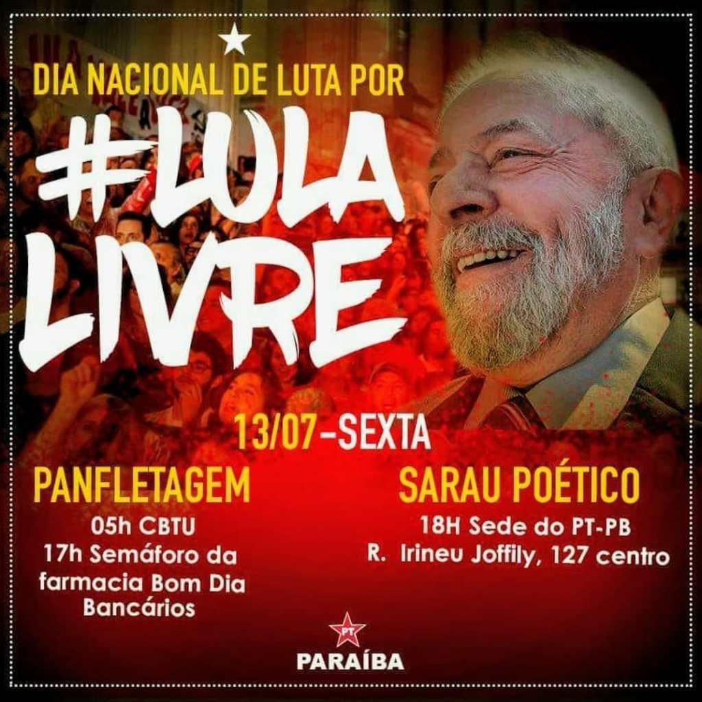 WhatsApp Image 2018 07 12 at 22.23.14 1024x1024 - PT-PB realiza mobilizações em João Pessoa nesta sexta-feira