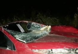 Colisão entre carro e cavalo deixa morto e feridos na BR-412 em Sumé, PB