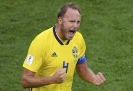 Suécia vence a Suíça e está nas quartas de final da Copa do Mundo