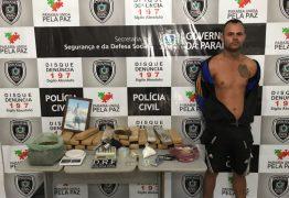 Homem que se passava por mototaxista para vender drogas é preso com 30 kg de maconha
