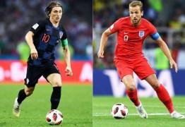 Croácia e Inglaterra disputam a chance de enfrentar a França na final