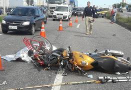Acidente entre moto e bicicleta na BR-230 deixa ciclista morto em João Pessoa
