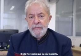 VEJA VÍDEO: Mensagem gravada por Lula, antes de ser preso é divulgada nas redes sociais