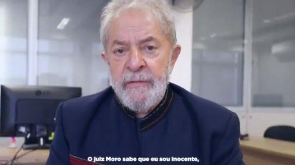 lula moro 600x337 - VEJA VÍDEO: Mensagem gravada por Lula, antes de ser preso é divulgada nas redes sociais