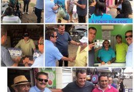 Dobradinha: Tião Gomes e Emerson Machado cumprem agenda conjunta em João Pessoa e esbanjam sintonia