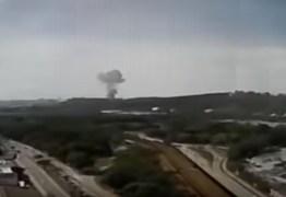 Veja o momento da explosão na Usiminas, em Ipatinga, no Vale do Aço