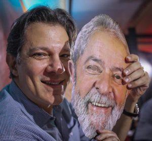 HaddadLulaMascaraRicardoStuckert 800x745 300x279 - Haddad tem desafio de ser Lula e não ser Lula na mesma eleição - por Bruno Boghossian