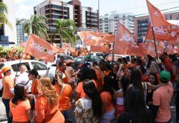 Militância lota orla de JP em apoio às candidaturas de João, Vené e Luiz Couto