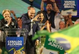 Em seu primeiro discurso como candidato Alckmin ataca Bolsonaro e Lula, 'herança de radicalismo'