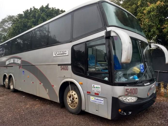 onibus - Ônibus que levava fiéis a convenção religiosa é apreendido com meia tonelada de droga