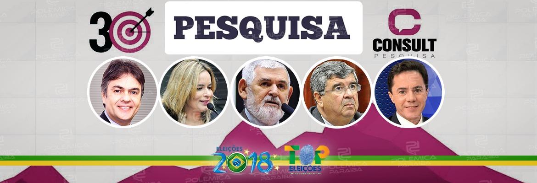 senadores pesquisa consult - PESQUISA CONSULT: Cássio e Veneziano lideram preferência do eleitorado paraibano para o Senado Federal