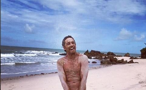 tambaba - Ator Leonardo Miggiorin visita praia naturista na Paraíba e posta foto