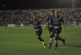 Juninho comemora gol salvador e vitória do Bota-PB no mata-mata da Série C
