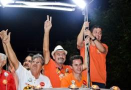Militância da candidatura de Jeová Campos era maioria dos mais de 15 mil presentes ao ato político realizado neste domingo em Cajazeiras