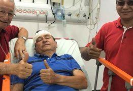 Frei Anastácio posta foto de Anísio Maia após acidente