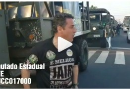 Caminhões do Exército são usados em carreata de deputado pró-Bolsonaro – VEJA VÍDEO