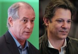Ciro e Haddad, se juntos, seriam imbatíveis já no primeiro turno – Por Ricardo Melo