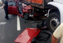 TRAGÉDIA:Presidente da Câmara Municipal de Sapé morre em acidente envolvendo caminhão de carga viva na BR-230