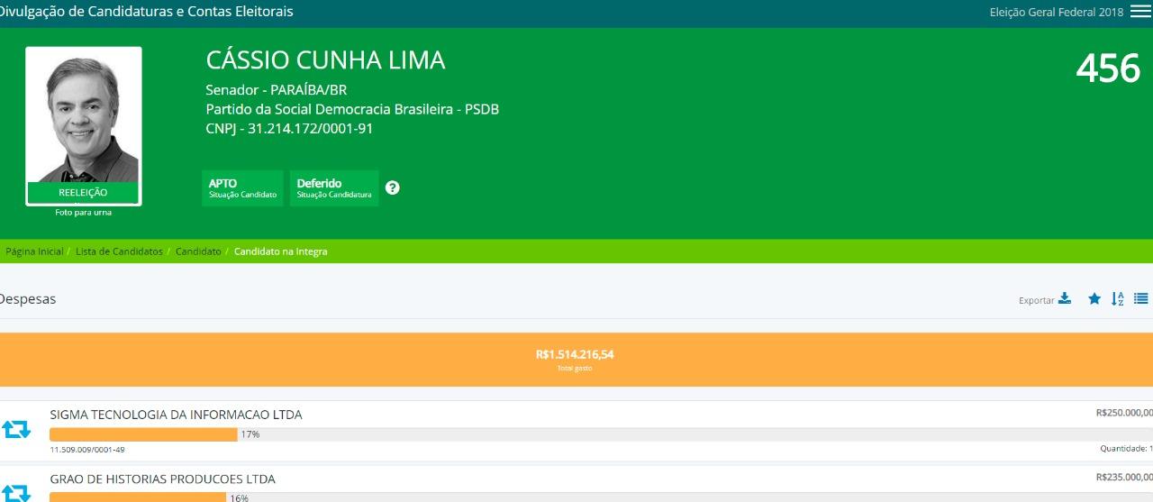 WhatsApp Image 2018 09 11 at 4.47.35 PM - PESQUISA SAI AMANHÃ: Estatístico do Grupo 6Sigma rebate ilações sobre pagamento feito por Cássio Cunha Lima