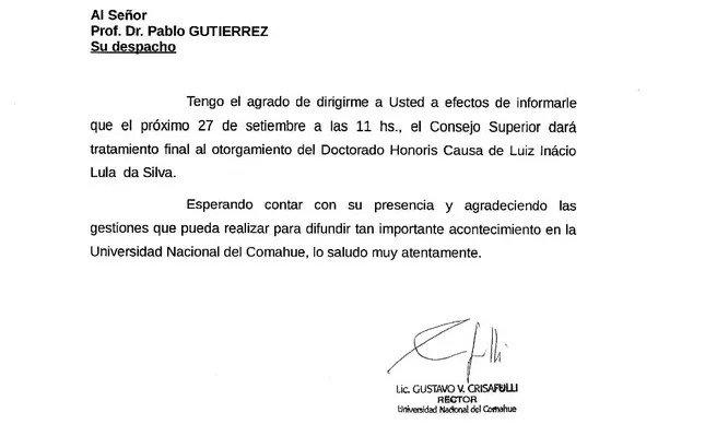 argentina 2 - Universidade da Argentina concede título de doutor honoris causa a Lula
