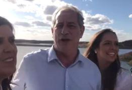 VEJA VÍDEO: Ciro Gomes visita açude de Boqueirão e comemora chegada da água em CG