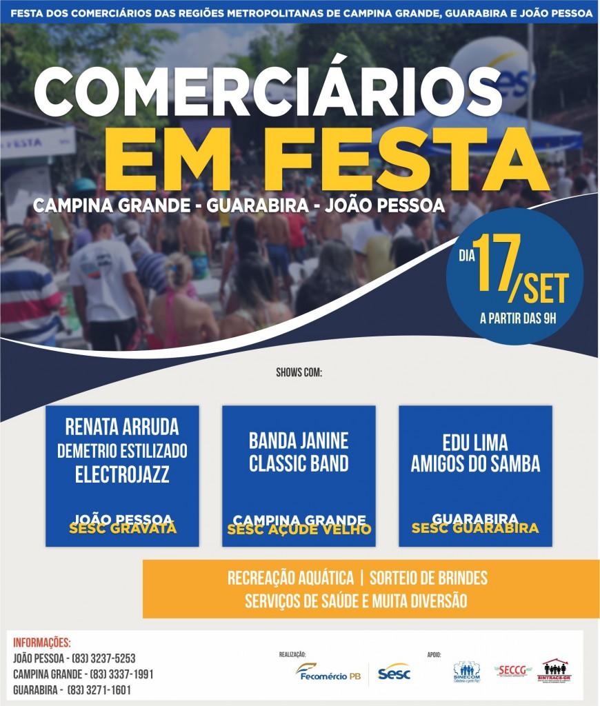 comerciarios GERAL - Sesc comemora Dia dos Comerciários em João Pessoa, Campina Grande e Guarabira