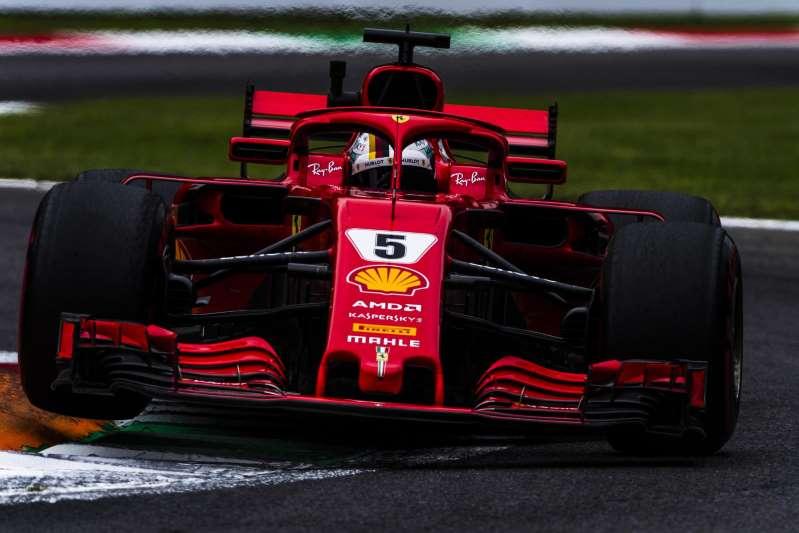 ferrari vettel - Com quebra de recorde e decisão alucinante Raikonnen garante a pole em Monza