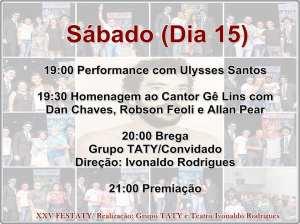 festaty10 300x224 - XXV FESTATY: Festival de teatro em Santa Rita reune 30 espetáculos e premia melhores destaques