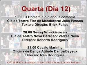festaty7 300x224 - XXV FESTATY: Festival de teatro em Santa Rita reune 30 espetáculos e premia melhores destaques