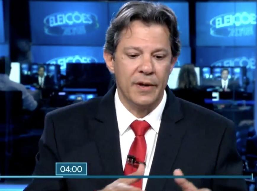 haddad - ENTREVISTA NO JN: Haddad saúda Lula e diz que PT combateu corrupção no governo; VEJA VÍDEO