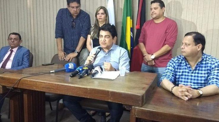 manoel junior   coletiva 740x414 - Manoel Júnior revela descontentamento com Cartaxo e confirma apoio a José Maranhão em coletiva à imprensa na API