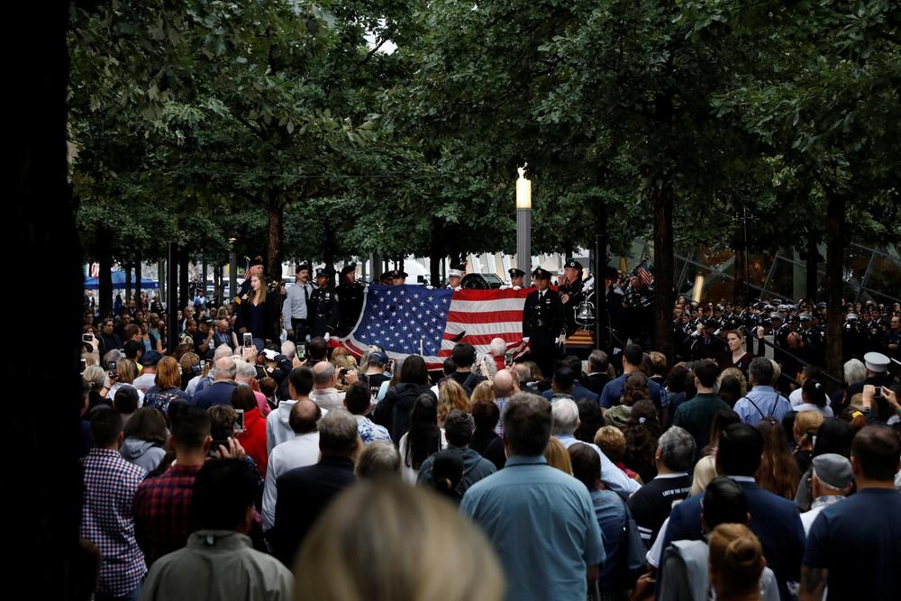new york - Americanos homenageiam vítimas no 17° aniversário dos ataques de 11 de setembro