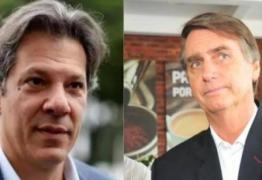 IBOPE NA PARAÍBA: Haddad tem 26%, Bolsonaro 19% e Ciro 16%