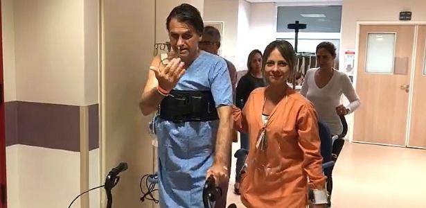video mostra jair bolsonaro psl caminhando pelo corredor do hospital 1537113961049 615x300 - Quadro clínico de Bolsonaro evolui sem sinal de infecção, diz hospital