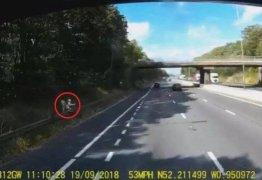 Homem é flagrado fazendo sexo com boneca inflável à beira de rodovia