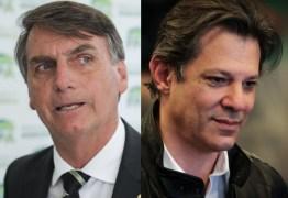 Pesquisa CNT/MDA aponta Bolsonaro com 13 pontos de vantagem para Haddad