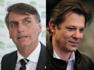 Bolsonaro Haddad 2 4 1 1 868x644 300x223 - PESQUISA BTG/PACTUAL: Bolsonaro tem 35% dos votos válidos; Haddad tem 27% - VEJA TODOS OS NÚMEROS