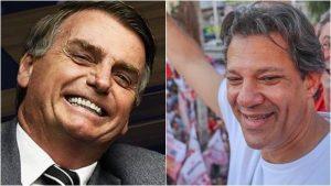 Bolsonaro Haddad 2 Fotos Reprodução Facebook 300x169 - SAI A PESQUISA VOX POPULI: BOLSONARO E HADDAD VÃO PARA O SEGUNDO TURNO - VEJA OS NÚMEROS
