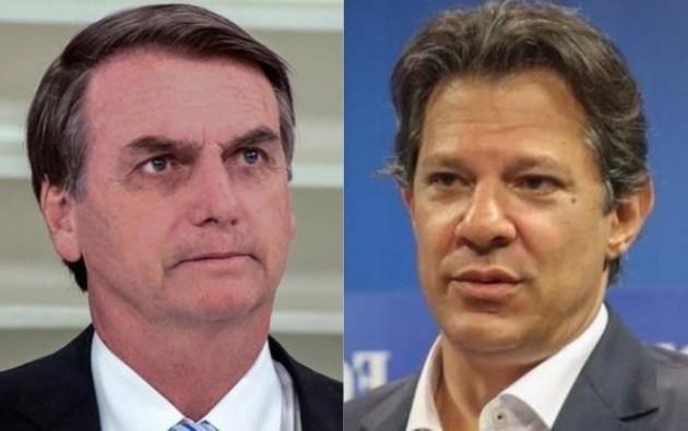 Bolsonaro haddad 2 300x188 - Diferença de Bolsonaro sobre Haddad cai consideravelmente em João Pessoa e Campina Grande neste 2º turno