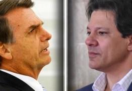 PESQUISA IBOPE: Cai a diferença entre Jair Bolsonaro e Fernando Haddad na disputa presidencial