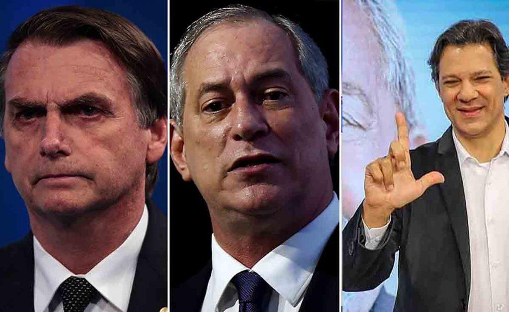 CIRO BOLSO HADDAD EDITAR 1024x628 - RealTime Big Data: Bolsonaro tem 29%; Haddad, 24% e Ciro, 11%