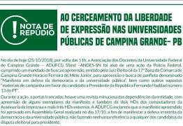 Associações e Sindicatos da Educação repudiam cerceamento à liberdade de expressão nas universidades