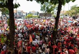 Milhares de pessoas participam de ato público com Haddad em João Pessoa; Veja vídeo