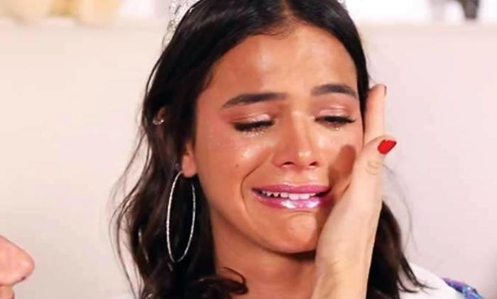 bruna marquezine chorando - Marquezine encerra entrevista ao ser questionada sobre caso Neymar