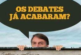 ELE NÃO DEBATE:  Bolsonaro nega aos eleitores uma das principais oportunidades proporcionadas pelo 2º turno – EDITORIAL DA FOLHA