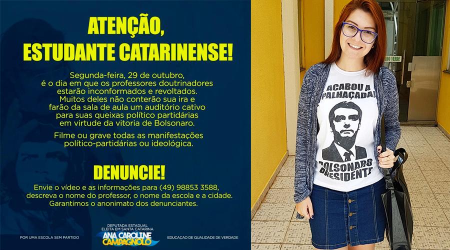 carolin - Deputada do PSL pede para estudantes filmarem 'professores doutrinadores'