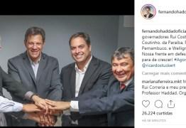 'ULTRAPASSAR O ÓDIO' Ricardo convoca militância após encontro com Haddad