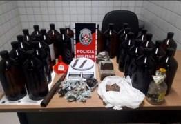 26 LITROS DE LOLÓ: Polícia Militar apreende menor com drogas no Valentina